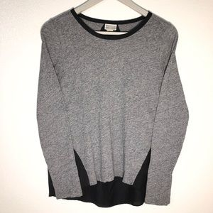 Converse One Star grey and black blouse